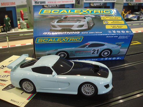 Scalextric - GT Lightning - Solo Car - Blue