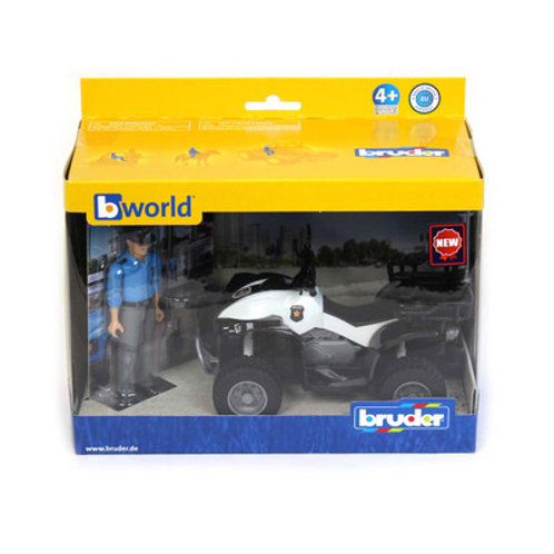 1/16 Police Quad With Light Skin Policeman And Accessories By Bruder