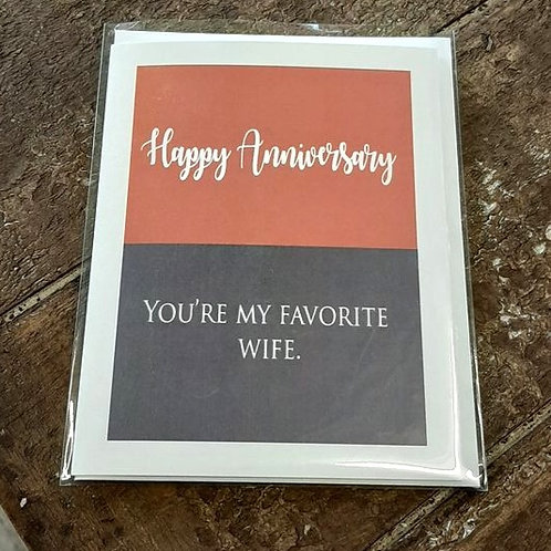 Anniversary card: Favorite wife