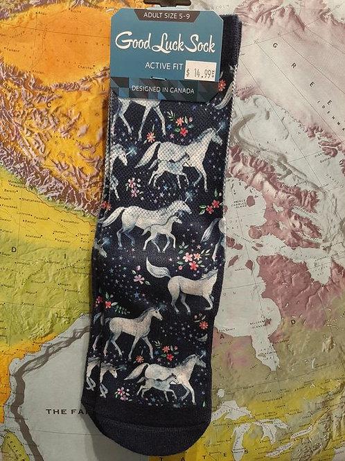 Good Luck Sock: Unicorn Family