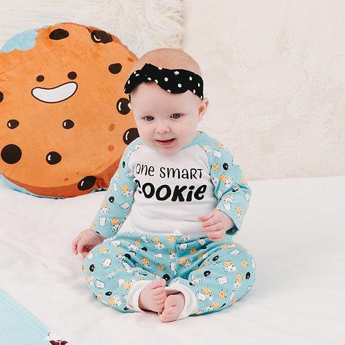 Smart Cookie - 6-12 Months Light Blue Bodysuit & Pants Set