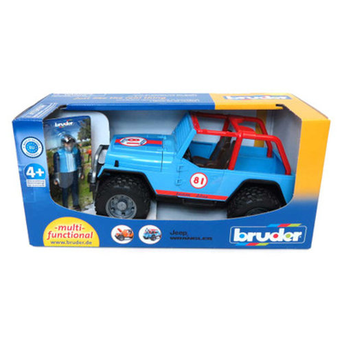 Bruder Blue Jeep with Driver