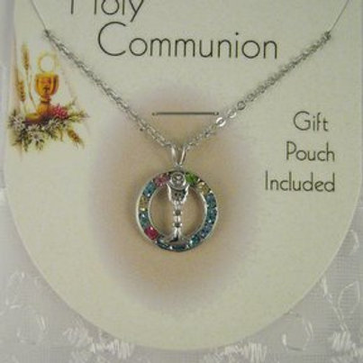 First Communion Necklace: Rainbow Chalice