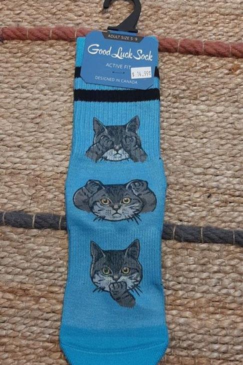 Good Luck Sock: No evil cat