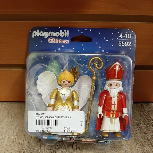 Playmobil Christmas Angel & St. Nick