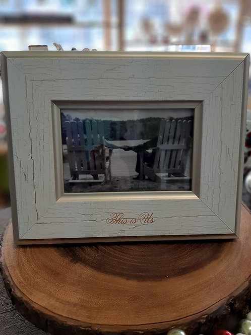 Picture Frame White/Gold