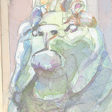 Art Inst - 3 Lion Head only