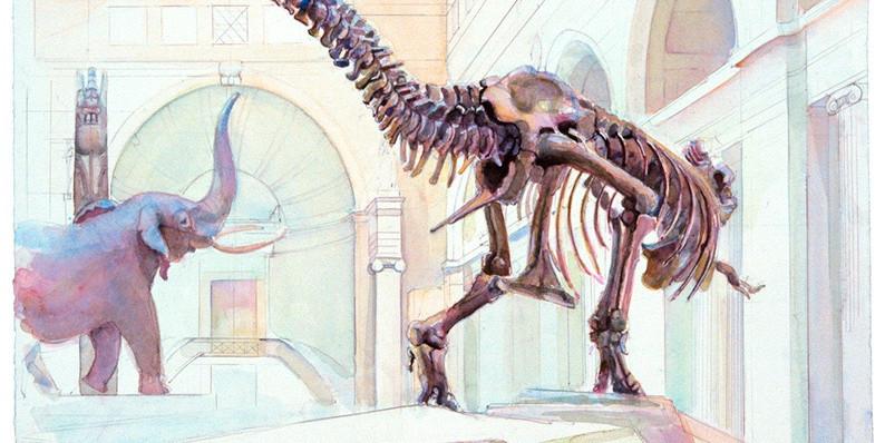 Dinosaur IV (30 X 22.8)