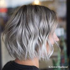 Such a perfect silver textured bob 🌪_--