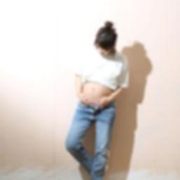 13日快晴、きれいな青空__マタニティ_モデルさんかと思うぐらい_動きが自然なマ
