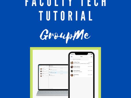 Faculty Tutorial Spotlight: GroupMe with Maria Tcherni-Buzzeo