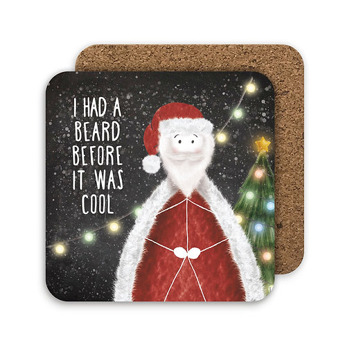 BEARD BEFORE IT WAS COOL set of 4 coasters - CC08