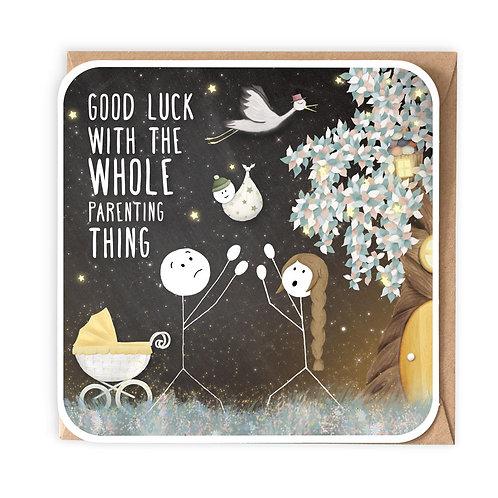 PARENTING THING GREETING CARD