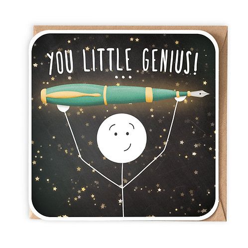YOU LITTLE GENIUS GREETING CARD