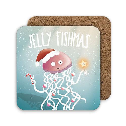 JELLY FISHMAS set of 4 coasters - CC19