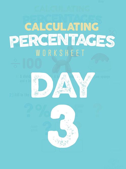 Percentages Worksheet - DAY3