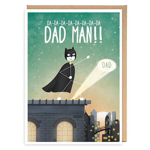 DAD MAN GREETING CARD