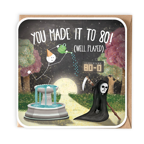 YOU MADE IT TO 80 greeting card - SM108