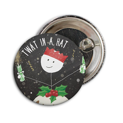 TWAT IN A HAT set of 6 badges - BB10