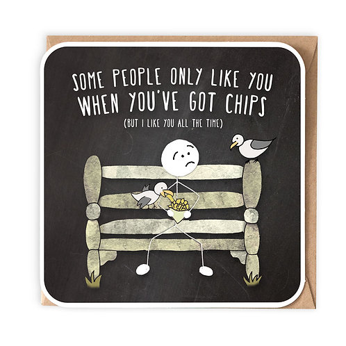 CHIPS GREETING CARD