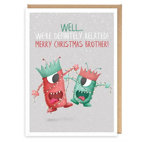 BROTHER CHRISTMAS GREETING CARD