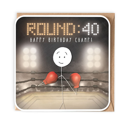 ROUND 40 GREETING CARD