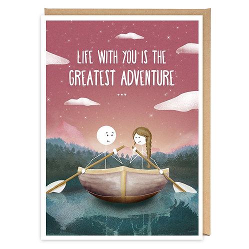 GREATEST ADVENTURE greeting card -WW01