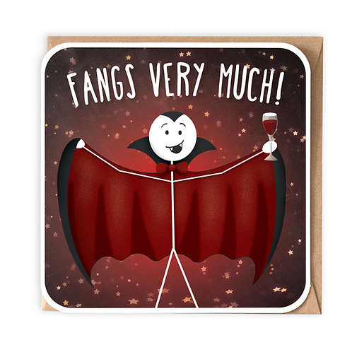 FANGS VERY MUCH GREETING CARD