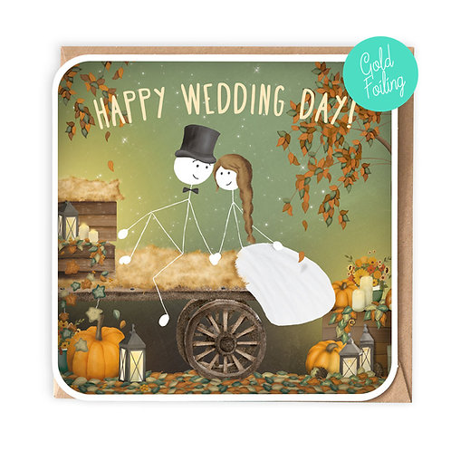 FOUR SEASONS 'AUTUMN' WEDDING GREETING CARD