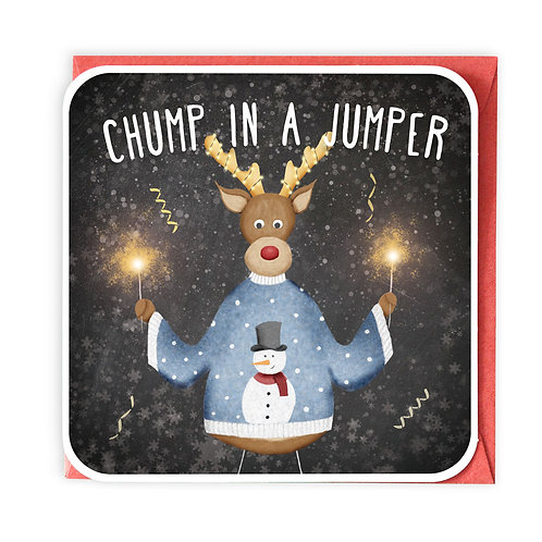 CHUMP IN A JUMPER CHRISTMAS GREETING CARD