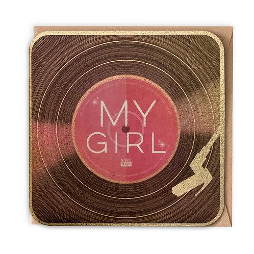 MY GIRL greeting card -VB12