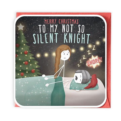 NOT SO SILENT KNIGHT CHRISTMAS GREETING CARD