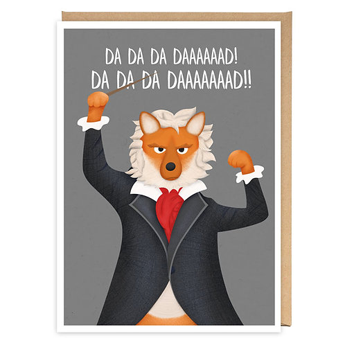 BEETHOVEN'S FIFTH DAD greeting card - PE17