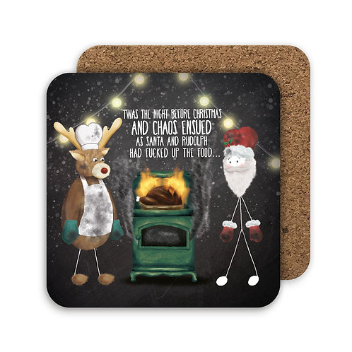 NIGHT BEFORE CHRISTMAS set of 4 coasters - CC10