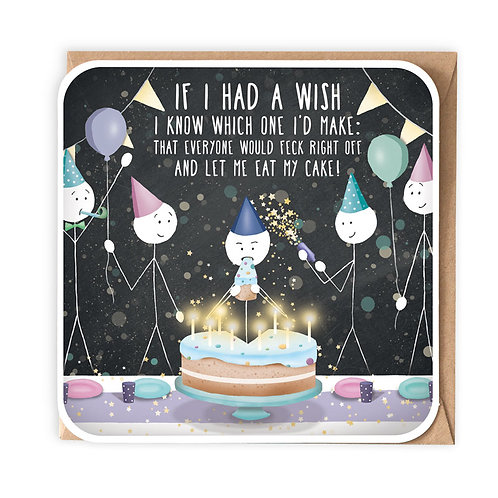 IF I HAD A WISH (FECK) greeting card - ISM78