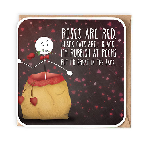 ROSES ARE RED greeting card - SM115