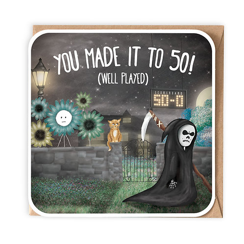 YOU MADE IT TO 50 greeting card - SM107