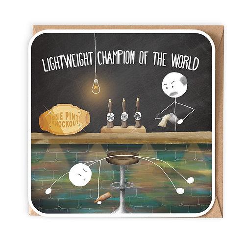 LIGHTWEIGHT CHAMPION GREETING CARD