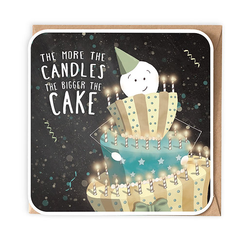 MORE CANDLES greeting card - SM46