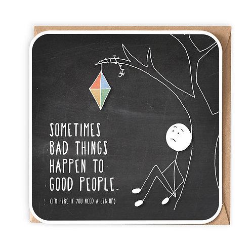 BAD THINGS GREETING CARD
