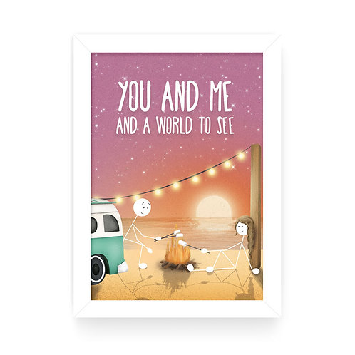 YOU AND ME A4 WALL PRINT