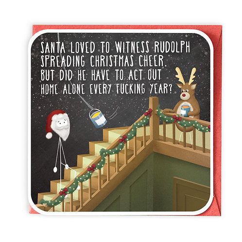 HOME ALONE CHRISTMAS GREETING CARD