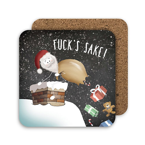 FUCK'S SAKE set of 4 coasters - CC14