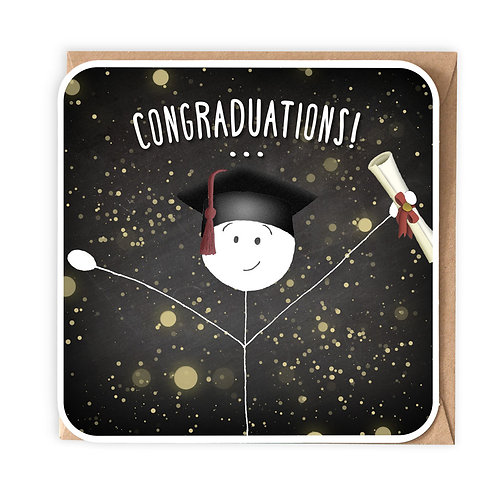 CONGRADUATIONS GREETING CARD