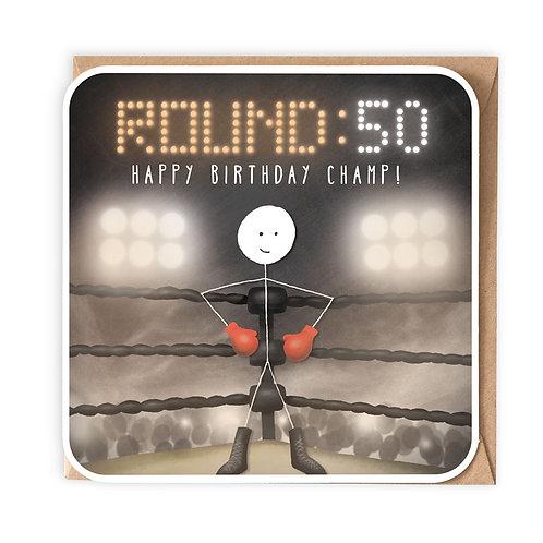 ROUND 50 GREETING CARD
