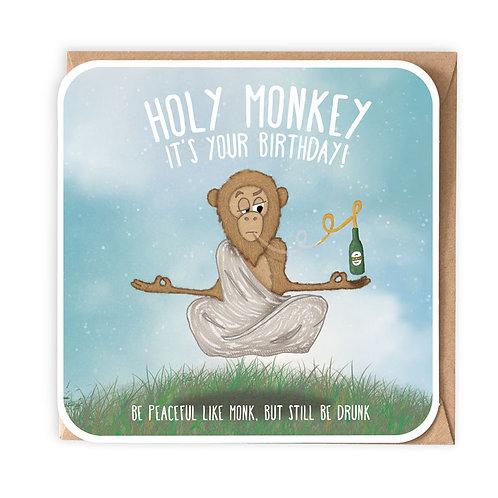 HOLY MONKEY! greeting card - CT13