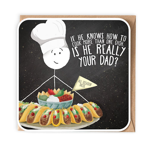 MORE THAN ONE DISH GREETING CARD