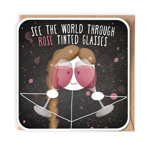 ROSE TINTED GLASSES GREETING CARD