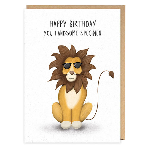 HANDSOME SPECIMEN LION GREETING CARD