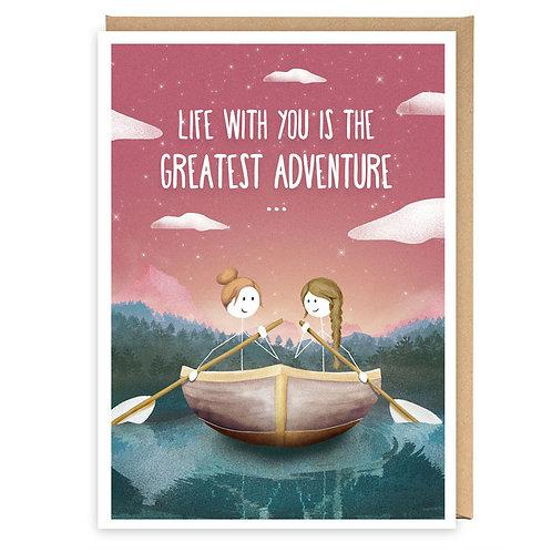 GREATEST ADVENTURE GREETING CARD